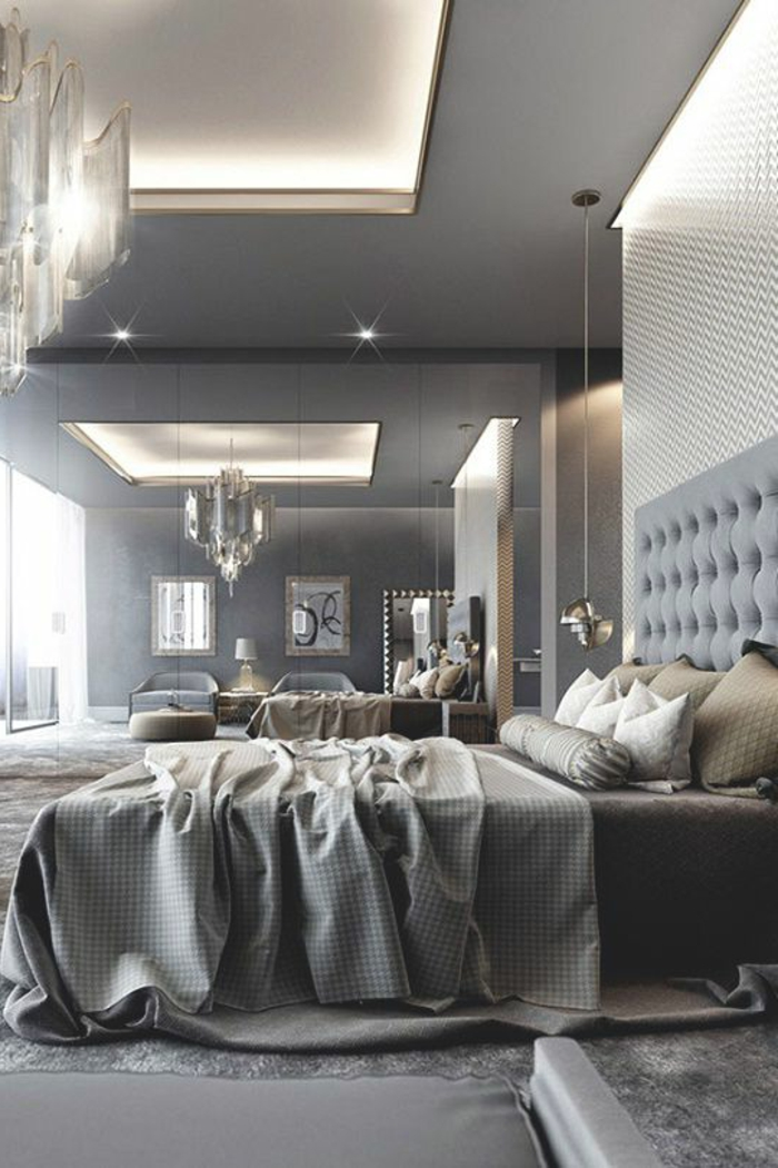 idée-déco-chambre-adulte-moderne-en-gris