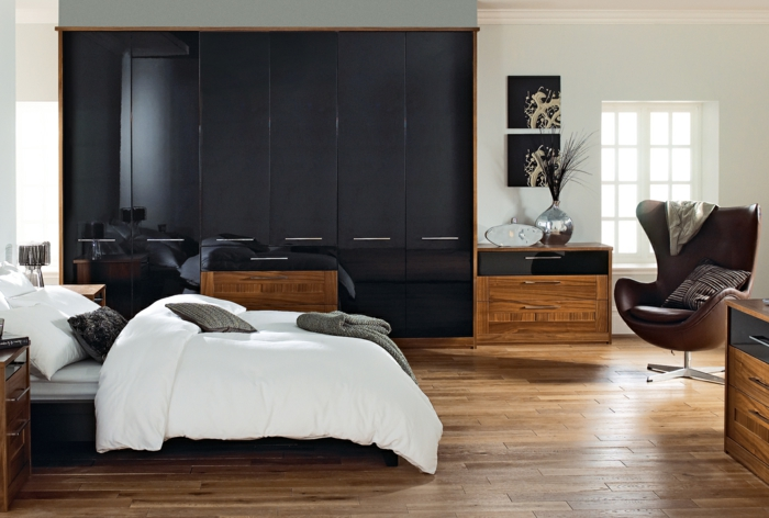 idée-déco-chambre-adulte-moderne-noir-et-bois
