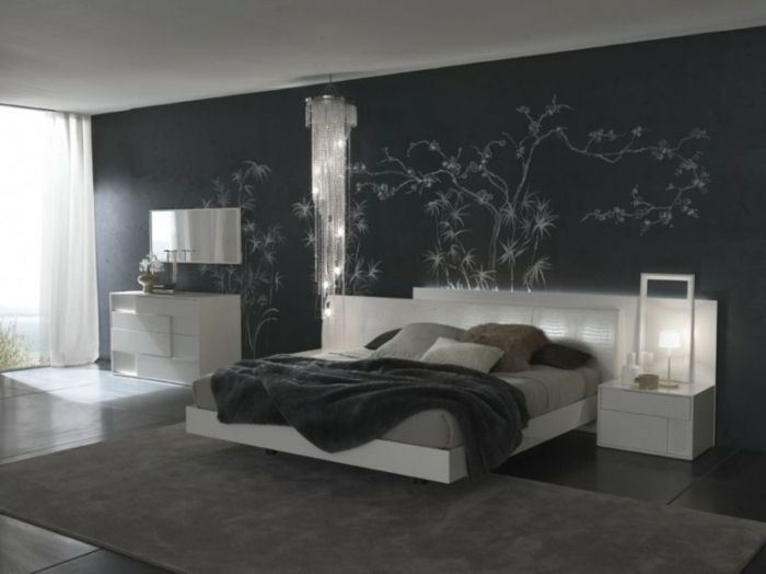 Choisir la meilleure id e d co chambre adulte - Very beautiful decorated living room black and grey ...