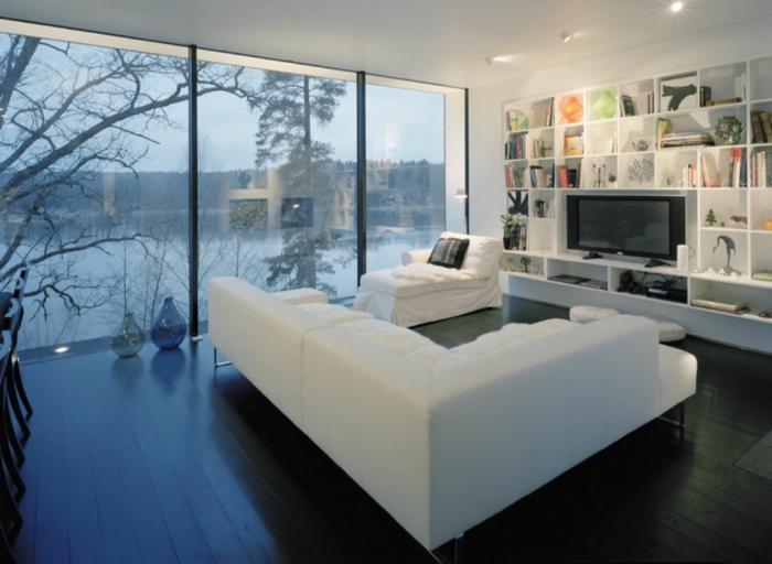 idée-déco-salle-à-manger-décoration-salon-blanc-grand-fenetre