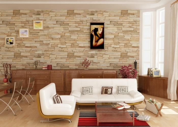 idée-déco-salle-à-manger-décoration-salon-briques