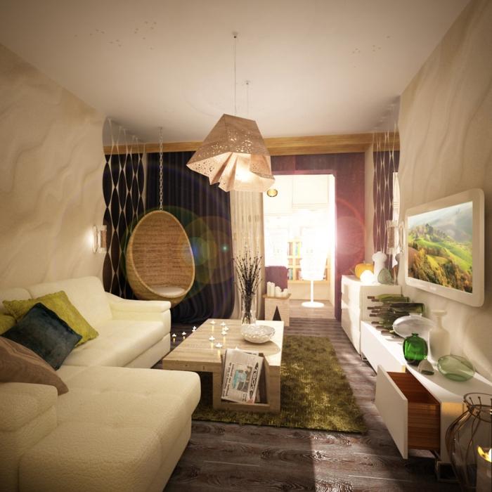 Salle De Bain Contemporaine 2015 : Salle de séjour classique avec meubles rétro et lustre baroque