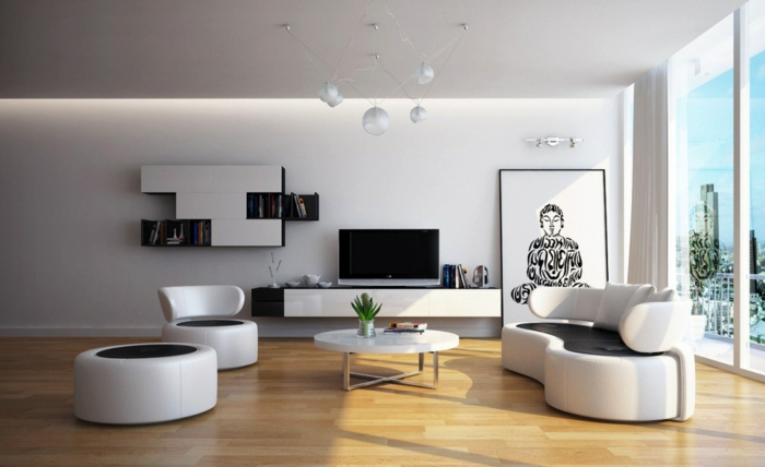 idée-décoration-salon-aménager-son-salon-canapé-moderne
