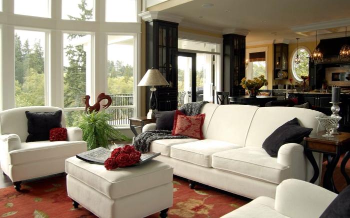idée-décoration-salon-aménager-son-salon-tapis-grand-fenetre