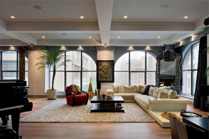 ... de séjour avec briques intérieurs pour la deco loft new yorkais