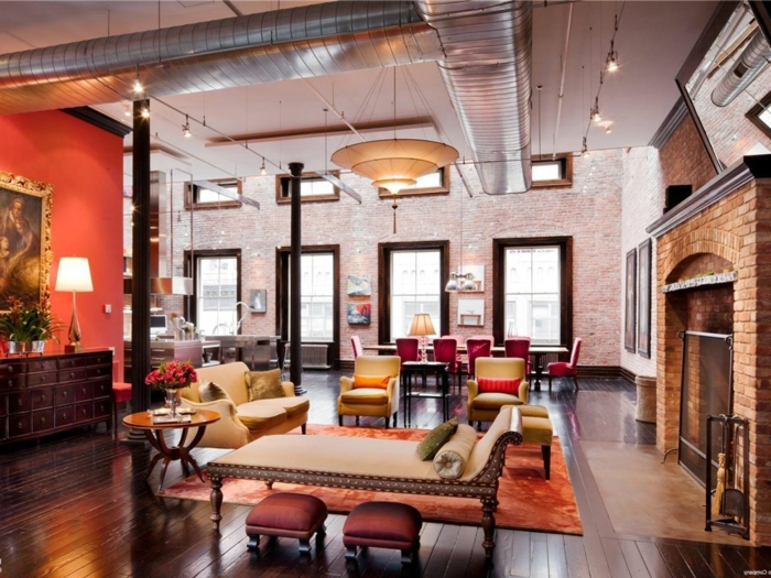 la deco loft new yorkais en 65 images. Black Bedroom Furniture Sets. Home Design Ideas
