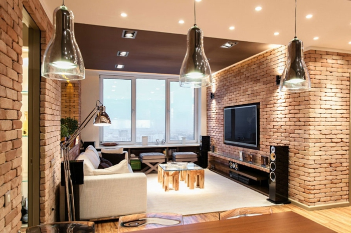 La deco loft new yorkais en 65 images - Idee deco lounge design ...