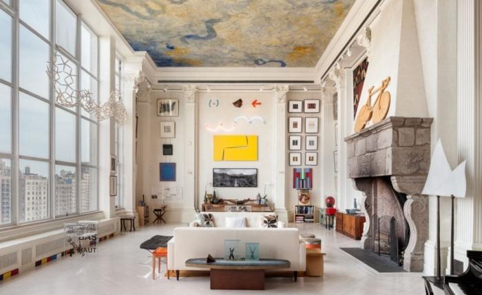 idées-deco-loft-new-yorkais-paris-peinture-sur-le-toit