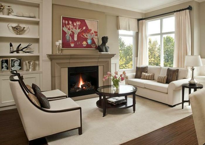 ikea-deco-decoration-salon-classique-stylé-beige-et-blanc
