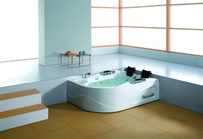 Emejing dimension jacuzzi salle de bain images design for Baignoire petite taille