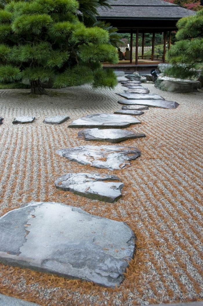 jardin-zen-japonais-idées-extérieur-pierres-kiosque