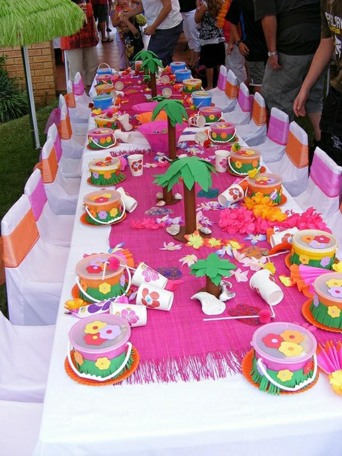 joli-set-de-table-nappe-rose-set-de-table-jetable-chemin-de-table-rose-jetable-nappe-blanche