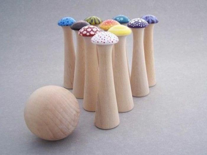 jouets-en-bois-bowling-créatif