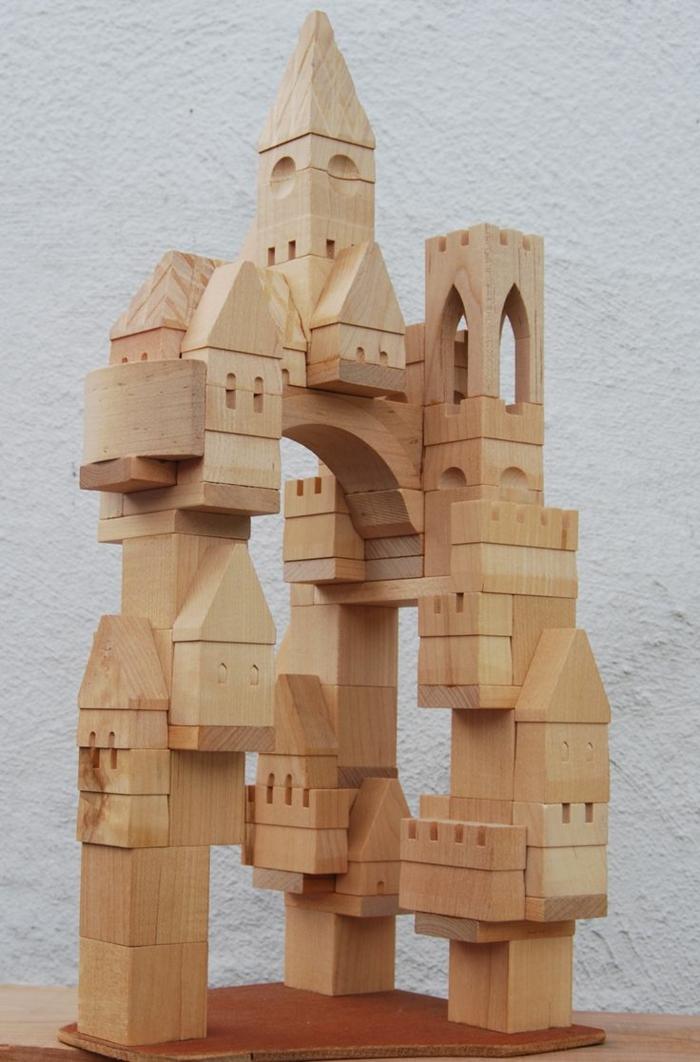 jouets-en-bois-grand-château-en-bois