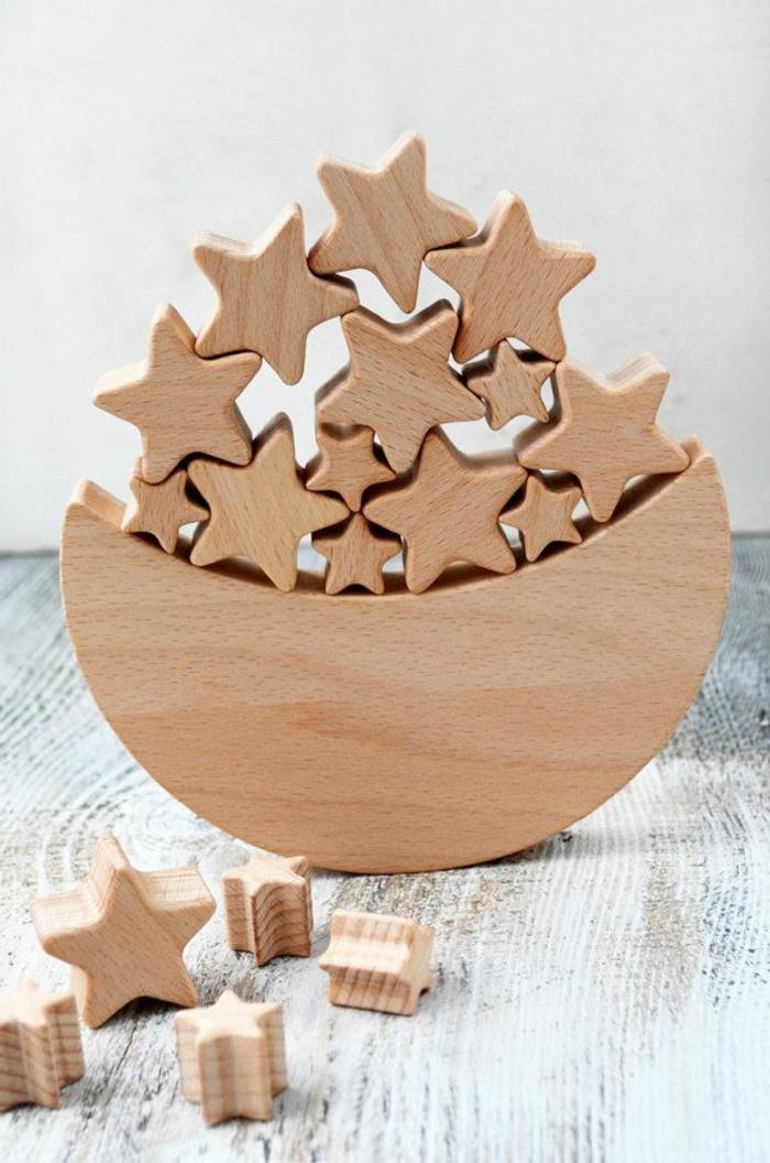 jouets-en-bois-jouet-bois-lune-et-étoiles