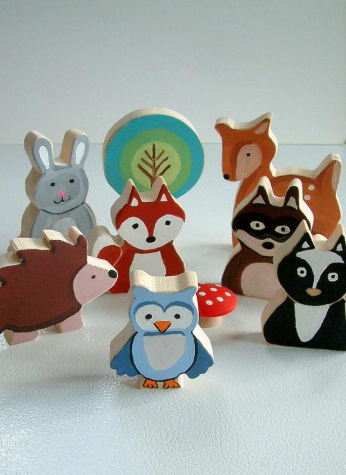 jouets-en-bois-les-animaux-de-la-forêt