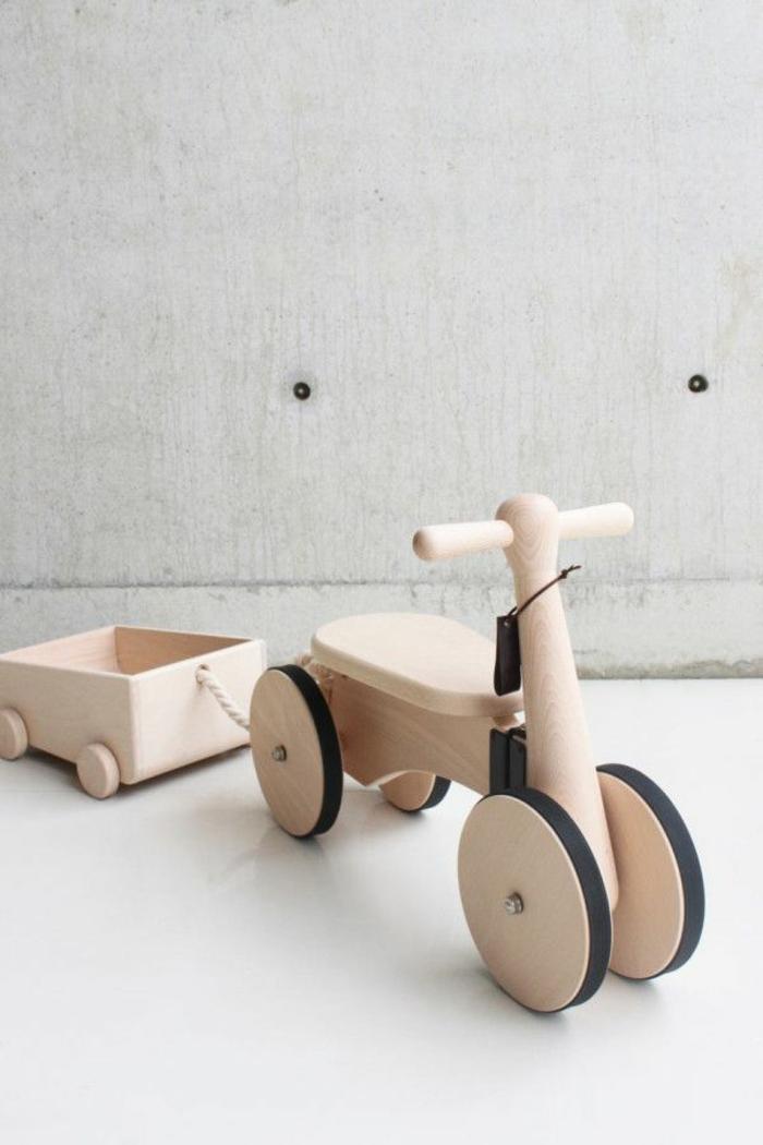 jouets-en-bois-véhicule-avec-remorque
