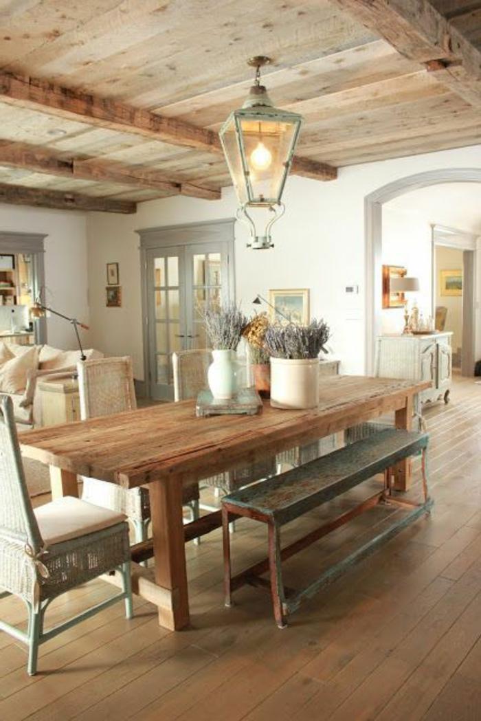Quel type d int rieur pour votre chalet en bois habitable for Plafond de cuisine en bois