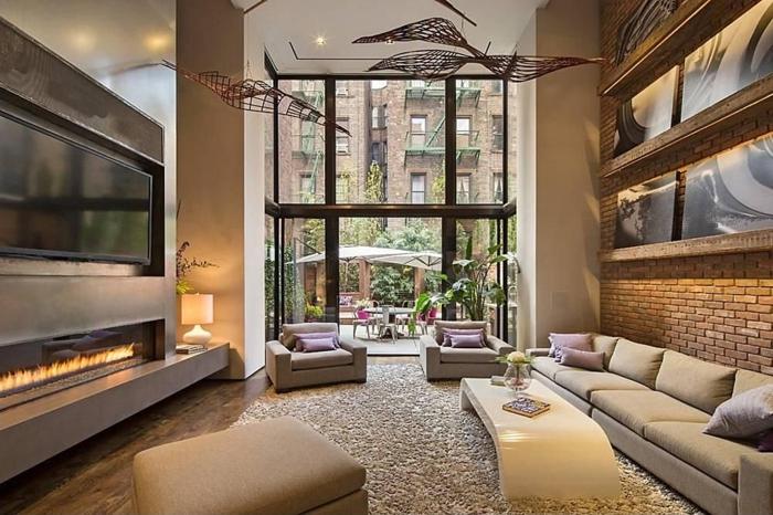 Chambre loft new yorkais design d 39 int rieur et id es de meubles Chambre loft new yorkais