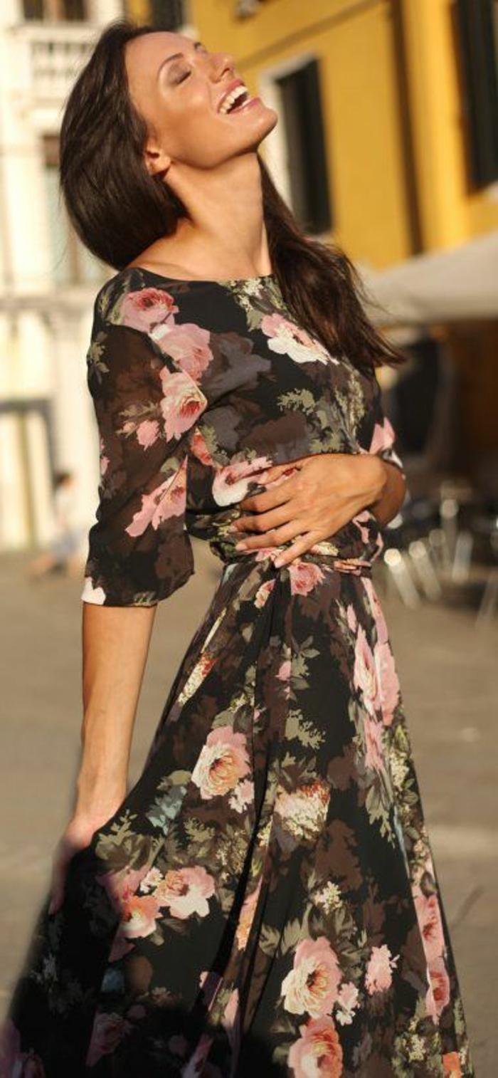 la-robe-longue-été-pas-cher-robe-d-été-longue-dessin-fleurs-roses