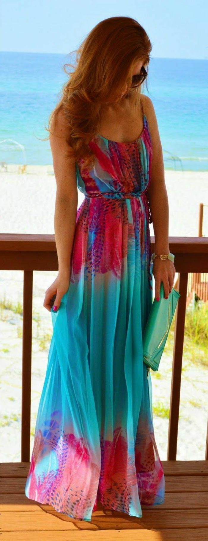 la-robe-longue-été-pas-cher-robe-d-été-longue-mer-sable-robe-colorée