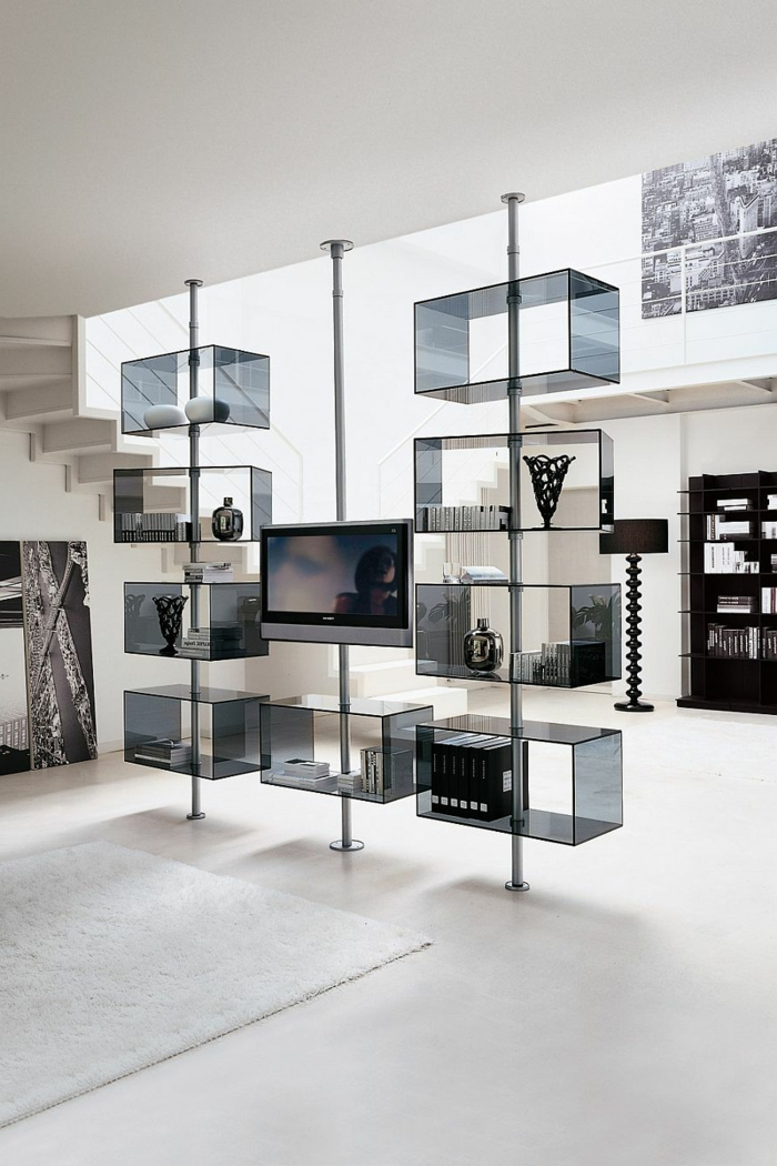la-salle-de-séjour-style-industriel-meuble-tv-glasse
