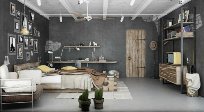la-salle-de-séjour-style-industriel-meuble-tv-rétro
