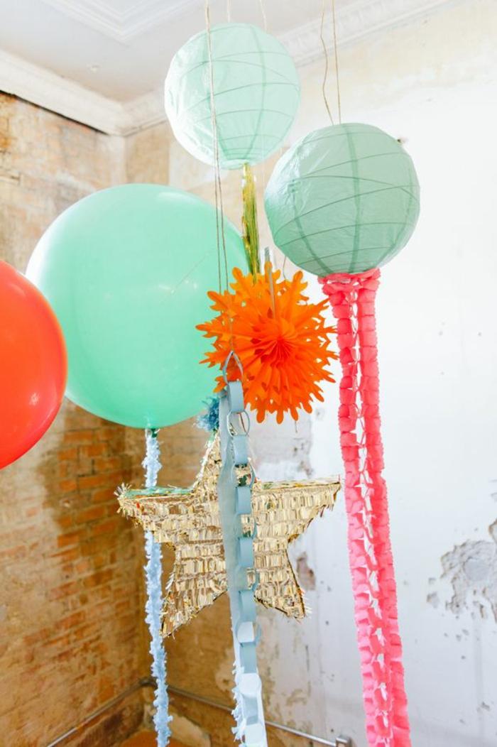 lanterne-papier-coloré-boule-en-papier-de-style-chinois-mur-de-briques-rouges-boule