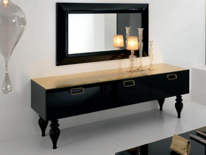 Meuble salon noir laqu good gorgeous meuble salon for Salon meuble noir
