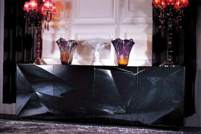 le-bahut-noir-meuble-salle-de-séjour-originale