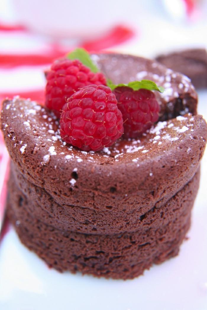Fondant chocolat coulant au chocolat