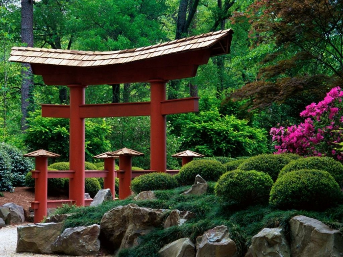 Mini Jardin Japonais D Intrieur. Bansas Et Haies De Buis Crent