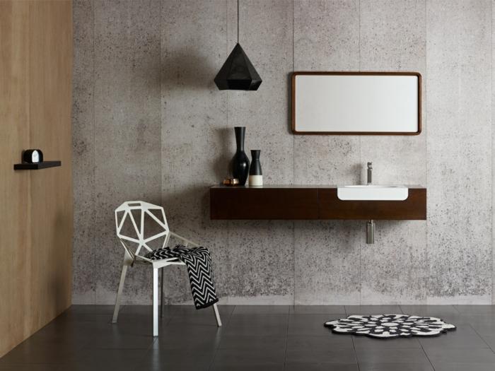 Le meuble sous lavabo 60 id es cr atives - Miroir d angle pour salle de bain ...