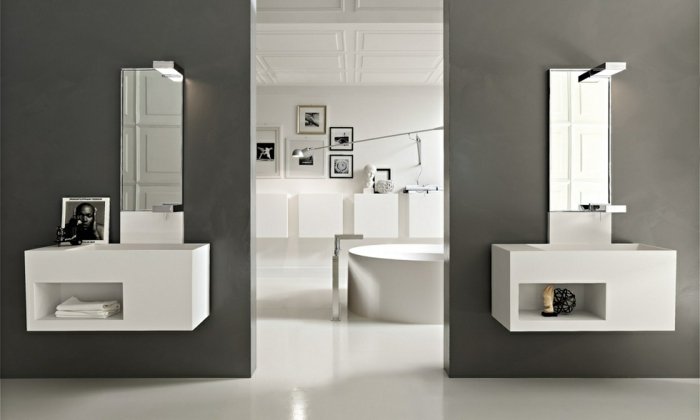le meuble sous lavabo 60 id es cr atives. Black Bedroom Furniture Sets. Home Design Ideas