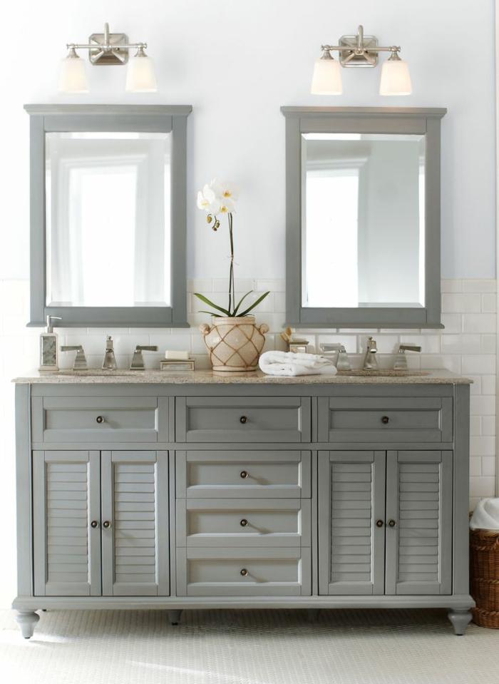 Meuble d appoint pour salle de bain gris solutions pour for Meuble lavabo angle salle de bain