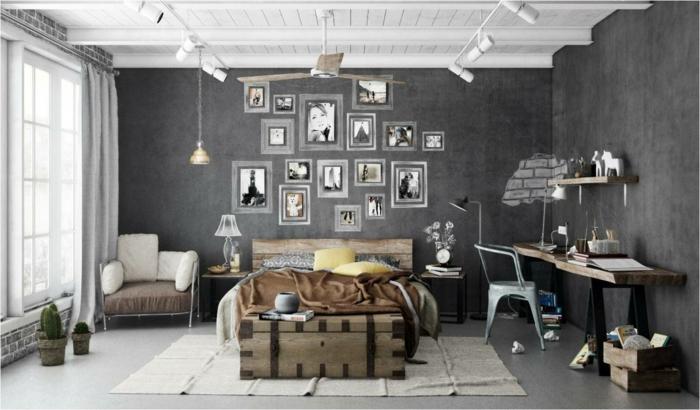 le-meuble-tv-style-industriel-salle-chambre-à-coucher-lit-coffre