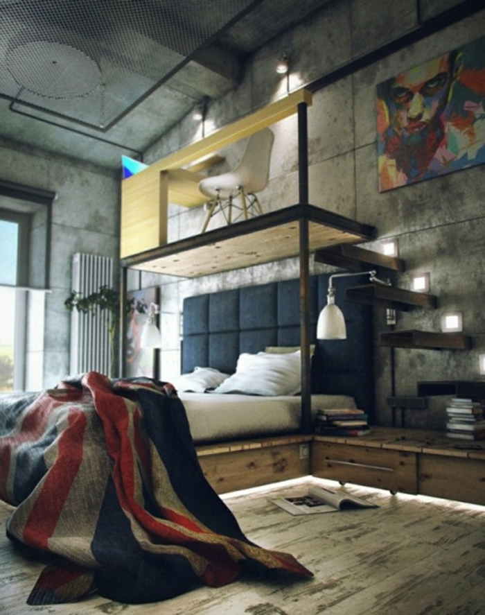 le-meuble-tv-style-industriel-salle-de-séjour-chambre-à-coucher