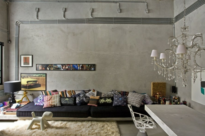 Meuble style industriel les meilleurs pour votre int rieur - Tete de lit style industriel ...