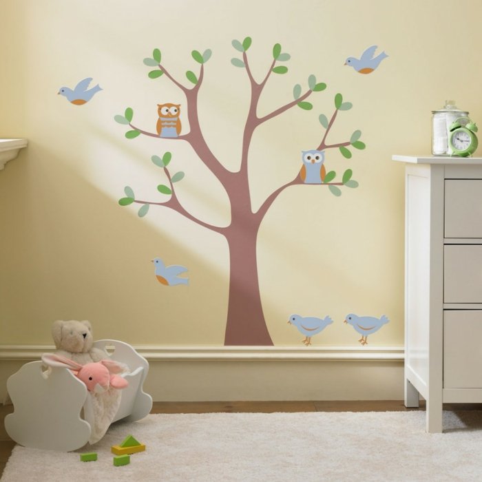 Le pochoir mural 35 id es cr atives pour l 39 int rieur for Pochoir chambre fille