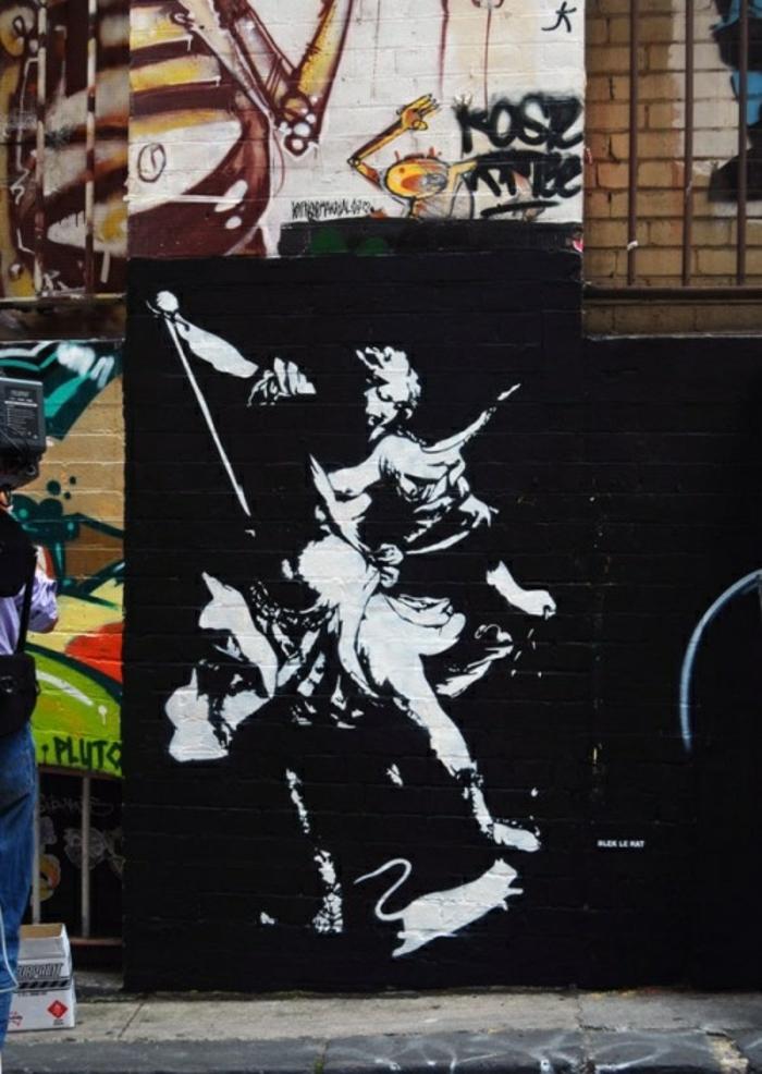 le-pochoir-peinture-street-art -ancien-represent