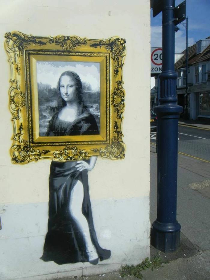 le-pochoir-peinture-street-art-la-Gioconda-Mona-lisa-interpretation
