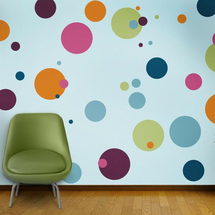 le-sticker-muraux-stickers-deco-salle-sejour-des-points-colorées