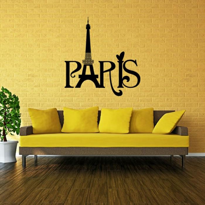 le-sticker-muraux-stickers-deco-salle-sejour-paris-canapé-jaune