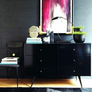 40 idées pour votre intérieur avec le bahut noir laqué