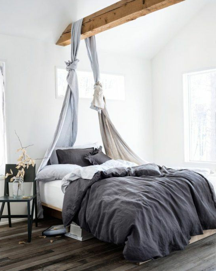 linge-de-lit-en-lin-chambre-à-coucher-style-rural