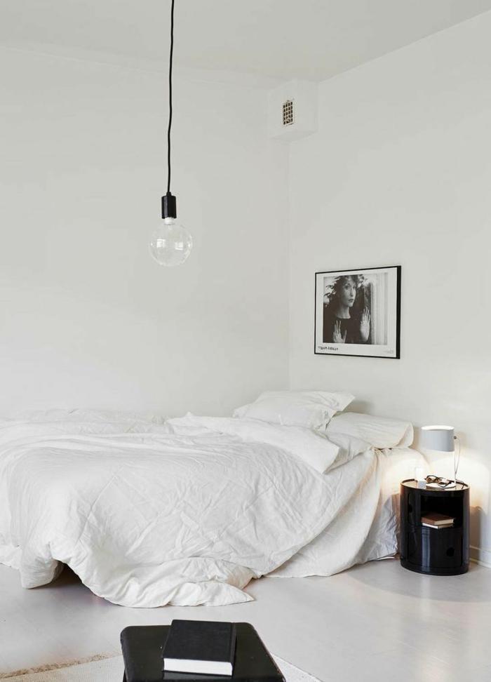 linge-de-lit-en-lin-décoration-simple-noir-et-blanc