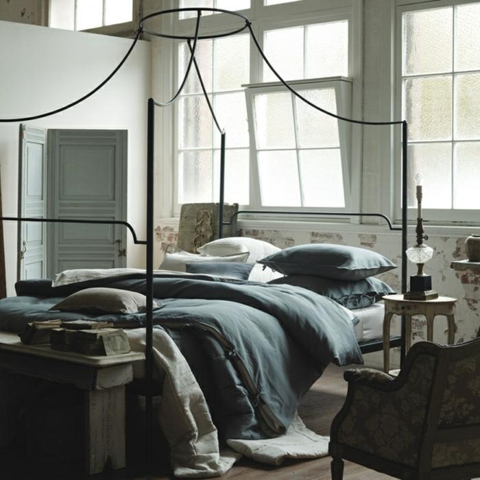 linge-de-lit-en-lin-décor-vintage-original