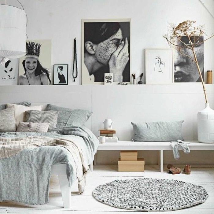 linge-de-lit-en-lin-intérieur-clair-et-artistique