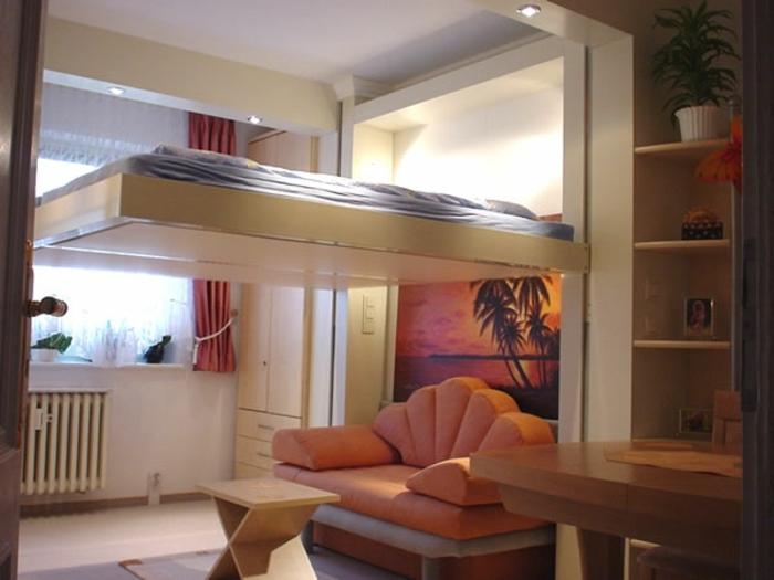 lit-d-appoint-pliant-chambre-d-enfant-murs-idée-aménagement-chambre-d-enfant-moderne