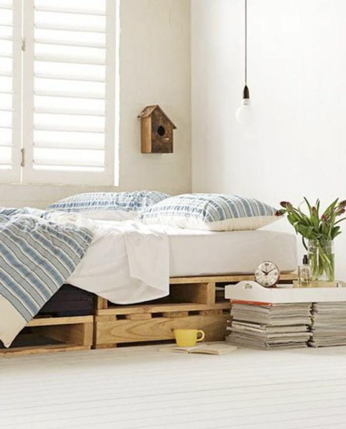 Canap lit palette top bureau palette with canap lit for Fabriquer un canape en palette de bois